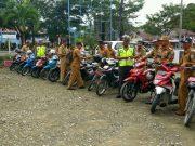 Sat Lantas Polres Simeulue, Sosialisasikan Kamseltibcarlantas & Cek Kelengkapan Randis Kepala Desa Sekecamatan Simeulue Timur.