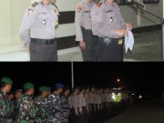 Amankan Malam Pergantian Tahun 2017/2018, Polres Simeulue Terjunkan Ratusan Personel Gabungan.